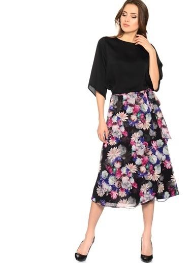 House Of Camellia Truvakar Kol Şifon Bluz Siyah